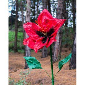 flores gigantes lirio rojo